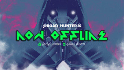 Twitch Offline Banner Creator Featuring an Ominous Cyborg Illustration 3221d