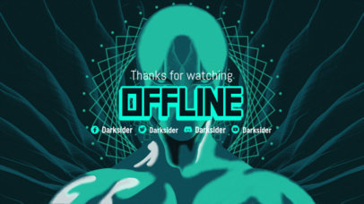 Twitch Offline Banner Generator Featuring an Illustrated Character Inspired by Destiny 3221f