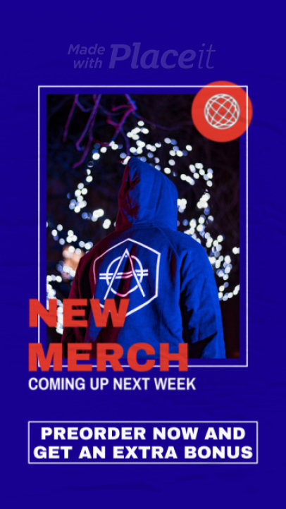 Instagram Story Video Template for a Rap Music Artist's Merch Promo 2483-el1