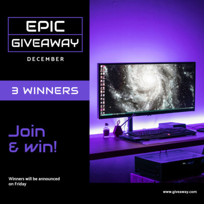 Instagram Post Maker for a Gaming-Related Giveaway 3296-el1