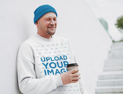 Sweatshirt Mockup of a Man Making a Funny Face 45663-r-el2