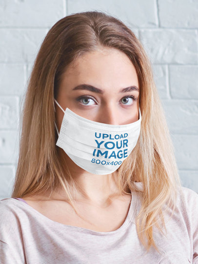 Mockup Featuring a Serious Woman Wearing a Face Mask 45670-r-el2