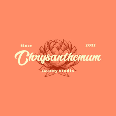 Beauty Logo Creator with a Graphic of a Chrysanthemum Flower 3928b
