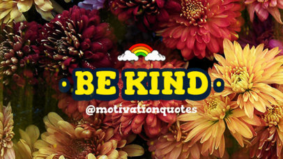 YouTube Thumbnail Design Generator Featuring a Positive Quote and a Rainbow Sticker 3252b