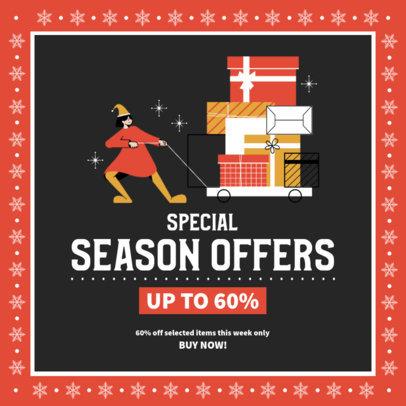 Winter-Themed Instagram Post Creator for Special Season Offers 3306b-el1