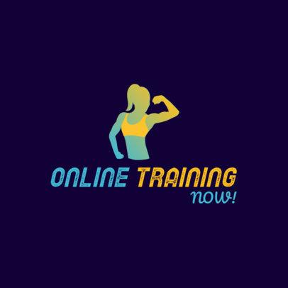 Modern Logo Creator for an Online Fitness Coach 3936c