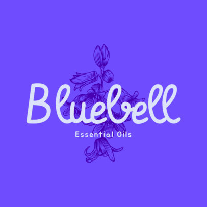 Floral Logo Creator for an Essential Oils Brand 3928k