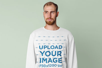 Sweatshirt Mockup Featuring a Serious Man with a Beard in a Studio 45917-r-el2