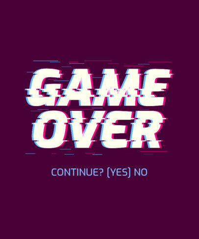 Gaming T-Shirt Design Generator with a Glitched Quote 3272b