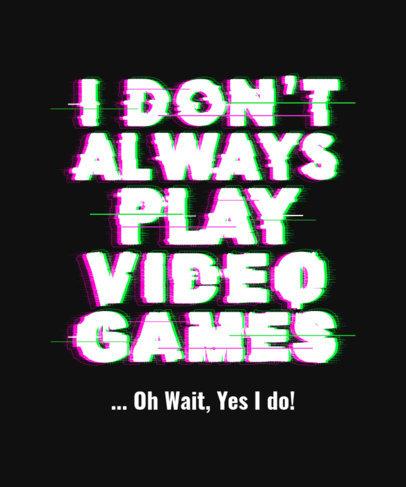 Typography T-Shirt Design Maker for Gamers 3272i