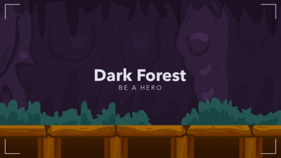 Discord Theme Design Template Featuring a Dark Forest Background 3335b-el1