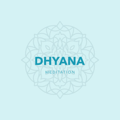 Logo Maker for a Meditation and Yoga Center with a Mandala Clipart 3954h