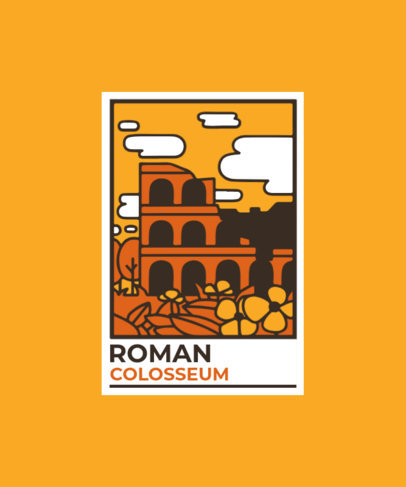 T-Shirt Design Creator with a Postal Stamp from the Colosseum 3325a-el1