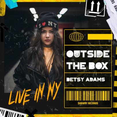 Album Art Maker for an R&B Female Singer Featuring Urban-Styled Graphics 3275b