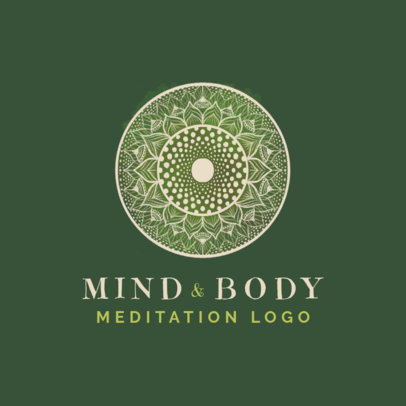 Meditation-Themed Logo Generator Featuring Intricate Mandala Designs 3953e