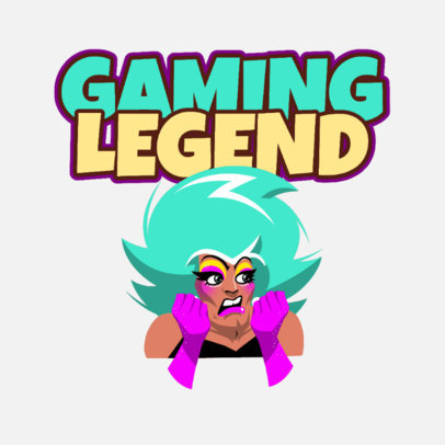 Twitch Emote Logo Maker Featuring a Drag Queen Character 3962