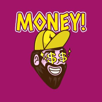 Twitch Emote Logo Maker of a Man with Money Symbols 3963e