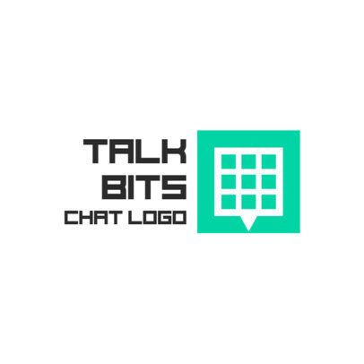 Logo Maker for a Chat App with a Squared Graphic 3969c