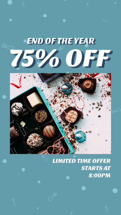 Instagram Story Design Maker for an End-of-Year Clearance Sale 3284d
