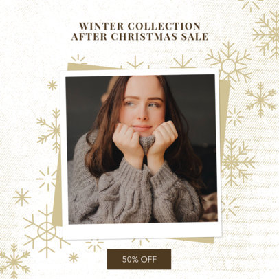 Instagram Post Generator for an After X-Mas Fashion Sale 3282g