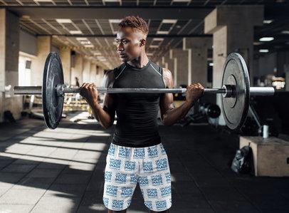 Shorts Mockup Featuring a Man Lifting Weights 34894-r-el2