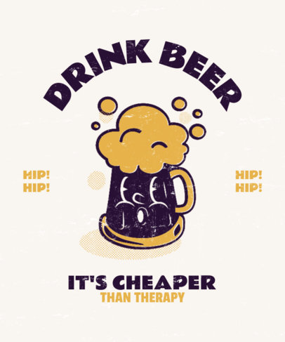 T-Shirt Design Generator Featuring a Beer Jar Cartoon 3290i