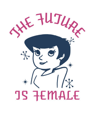 Feminist T-Shirt Design Template Featuring a Vintage Cartoon 3288b