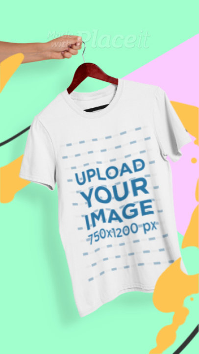 Illustrated Video of a T-Shirt Featuring Animated Paint Lines 2605