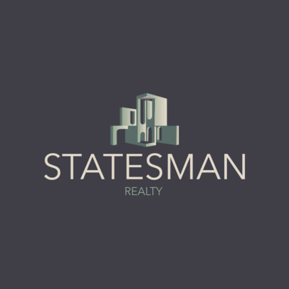 Real Estate Logo Generator Featuring Illustrations of Modern Buildings 3988