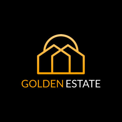Real Estate Logo Maker Featuring Minimalist Icons 3990