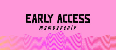 Patreon Tier Banner Creator for an Early Access Membership 3402e-el1