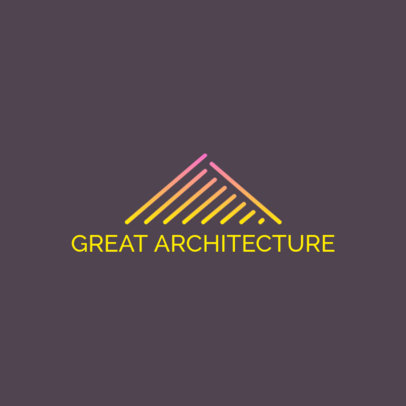 Logo Template for an Architectural Firm with a Minimalist Pyramid Graphic 3990a