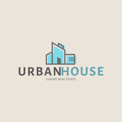 Real Estate Logo Template Featuring a Graphic with Modern Aesthetic 3991B