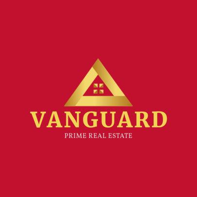 Real Estate Logo Creator with an Abstract Pyramid Icon 3991E