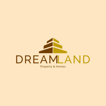 Real Estate Logo Creator with a Pyramid Graphic 3991H