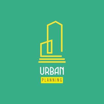 Logo Generator for Urban Design Firms Featuring a Building Graphic 3989b