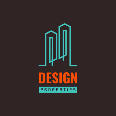 Logo Maker for Real Estate Agencies Featuring Abstract Graphics 3989f