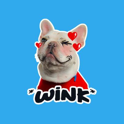 Twitch Emote Logo Generator Featuring a Cute Dog Winking 3981g