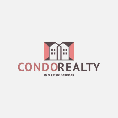 Logo Template for a Real Estate Firm with a Modern Condo Graphic 3991P