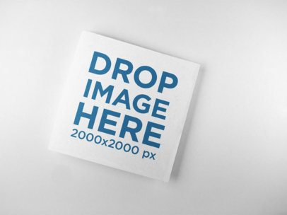 Mockup of a Square Booklet Lying on a Solid Surface a15087