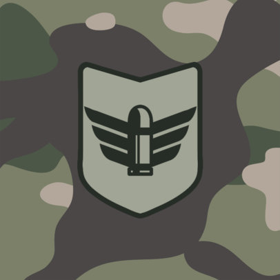 Patreon Profile Picture Creator with a Military Camouflage Aesthetic 3388d-el1