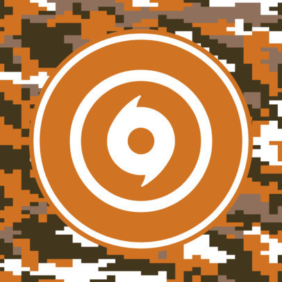 Patreon Profile Picture Template with a Military Aesthetic 3384b-el1