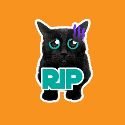 Twitch Emote Logo Maker Featuring a Sad Cat Graphic 3983c