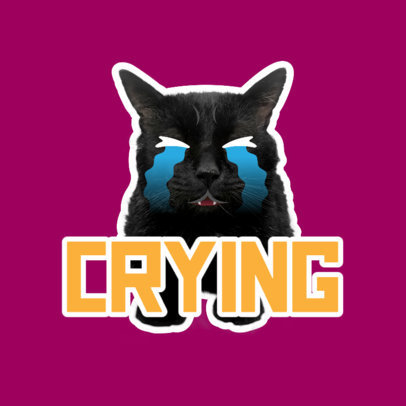 Twitch Emote Logo Maker Featuring a Crying Cat Graphic 3983f