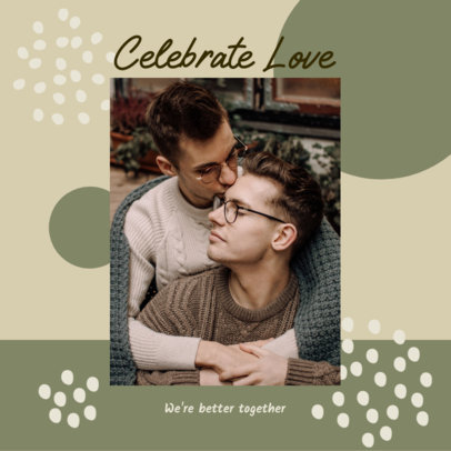 LGBTQ-Themed Instagram Post Generator for Valentine's Day 3300d