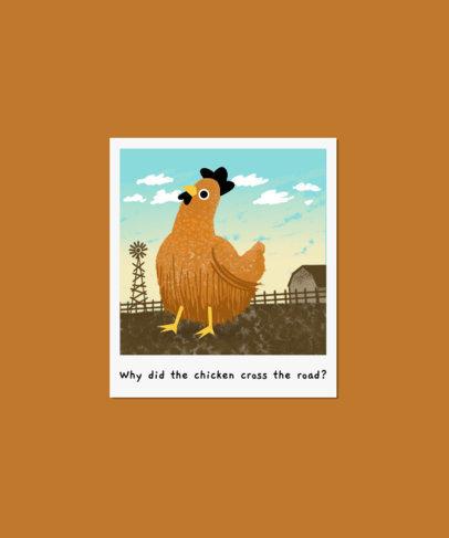 T-Shirt Design Maker Featuring Funny Chicken Illustrations 3414
