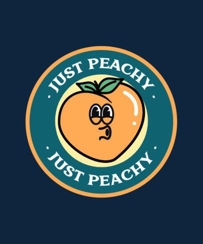 T-Shirt Design Template Featuring a Peach Graphic 3325a