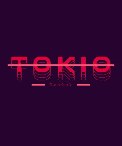Japan-Inspired T-Shirt Design Maker Featuring a Retro Font 3336b