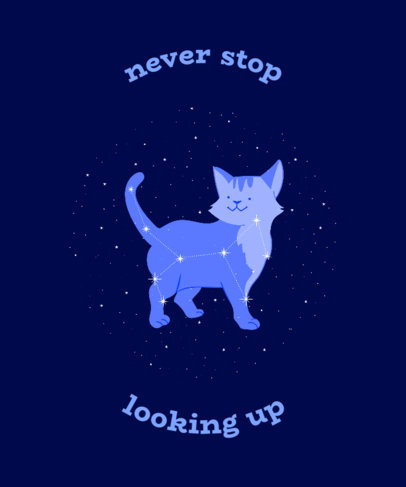 T-Shirt Design Maker Featuring a Cat Constellation and a Quote 3318b