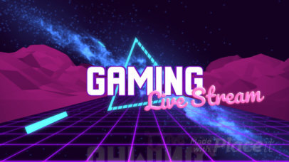 Gaming-Themed Intro Maker Featuring a Vaporwave Aesthetic 2679
